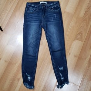 Kan can signature distressed GIRLS jeans